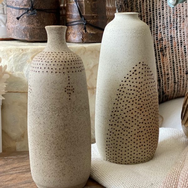 Medium Etched Vase Alhoka Designs