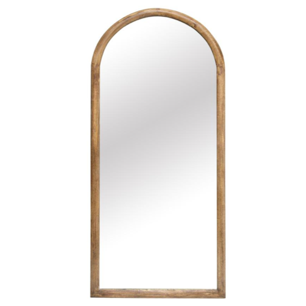 Arc Wood Carved Mirror 190x82cm Natural