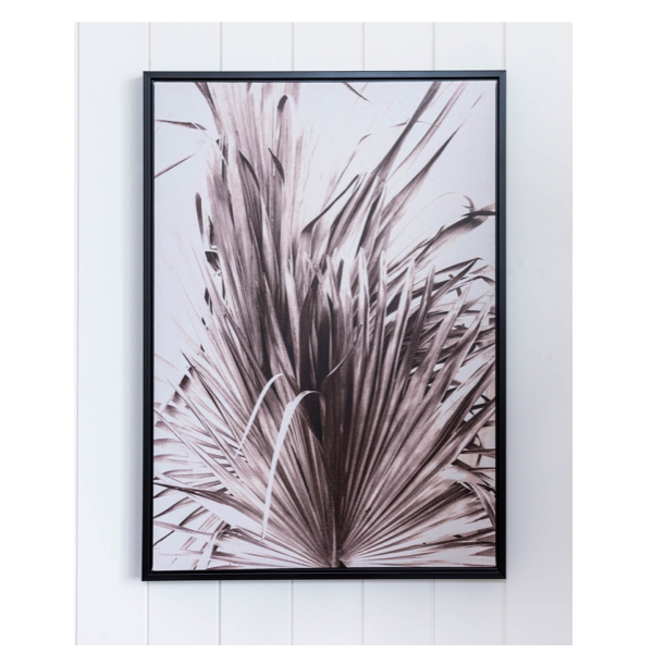 Framed Canvas Weaved Palm 50x70cm