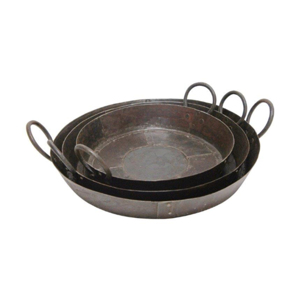 Antique Iron Pans Lge