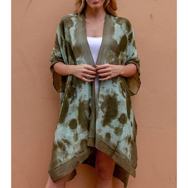 Green 2 Tone Short Kaftan