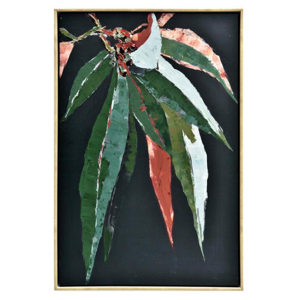 Autumn Gumleaf Framed Canvas Painting 50x70cm