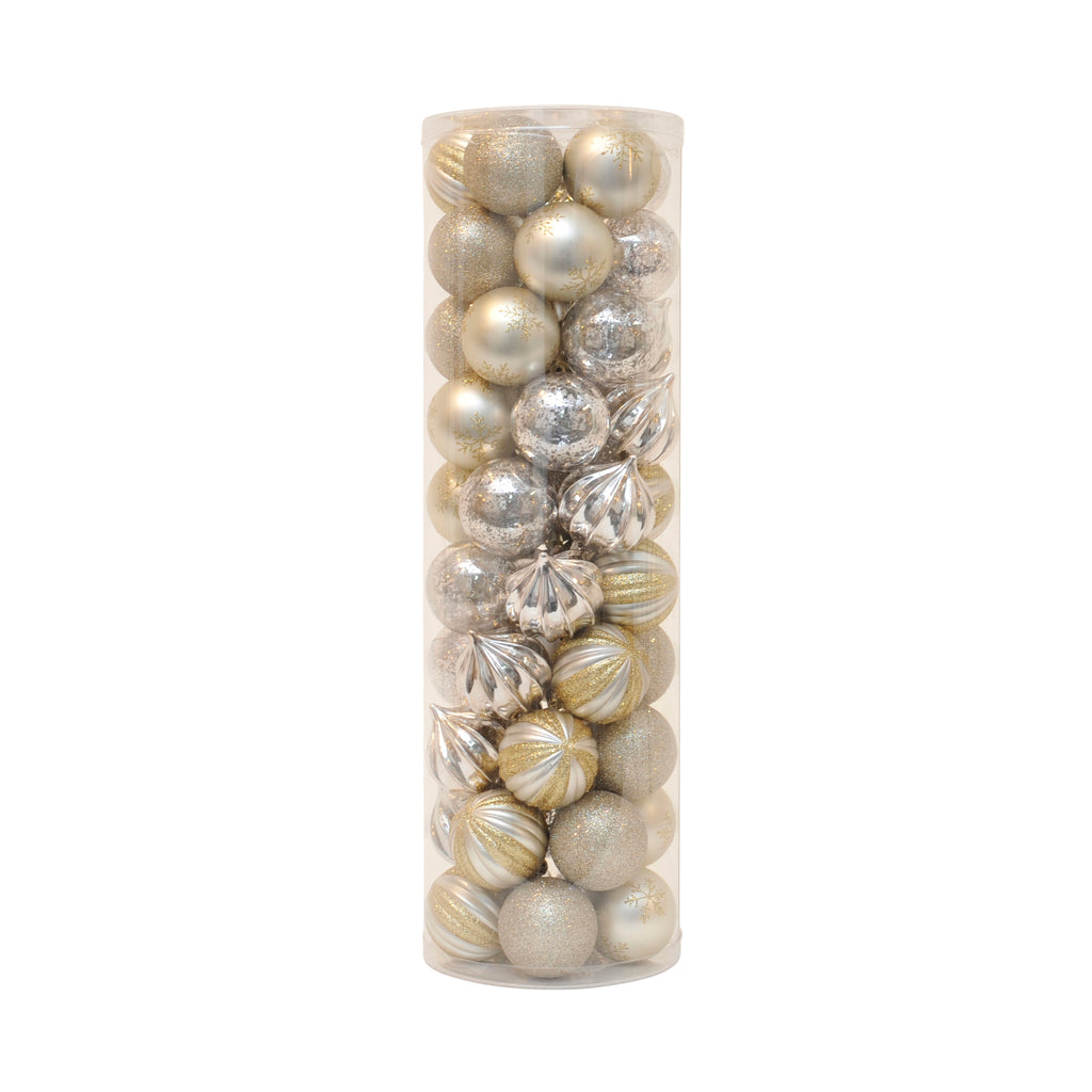 50 Bauble Tube Champagne