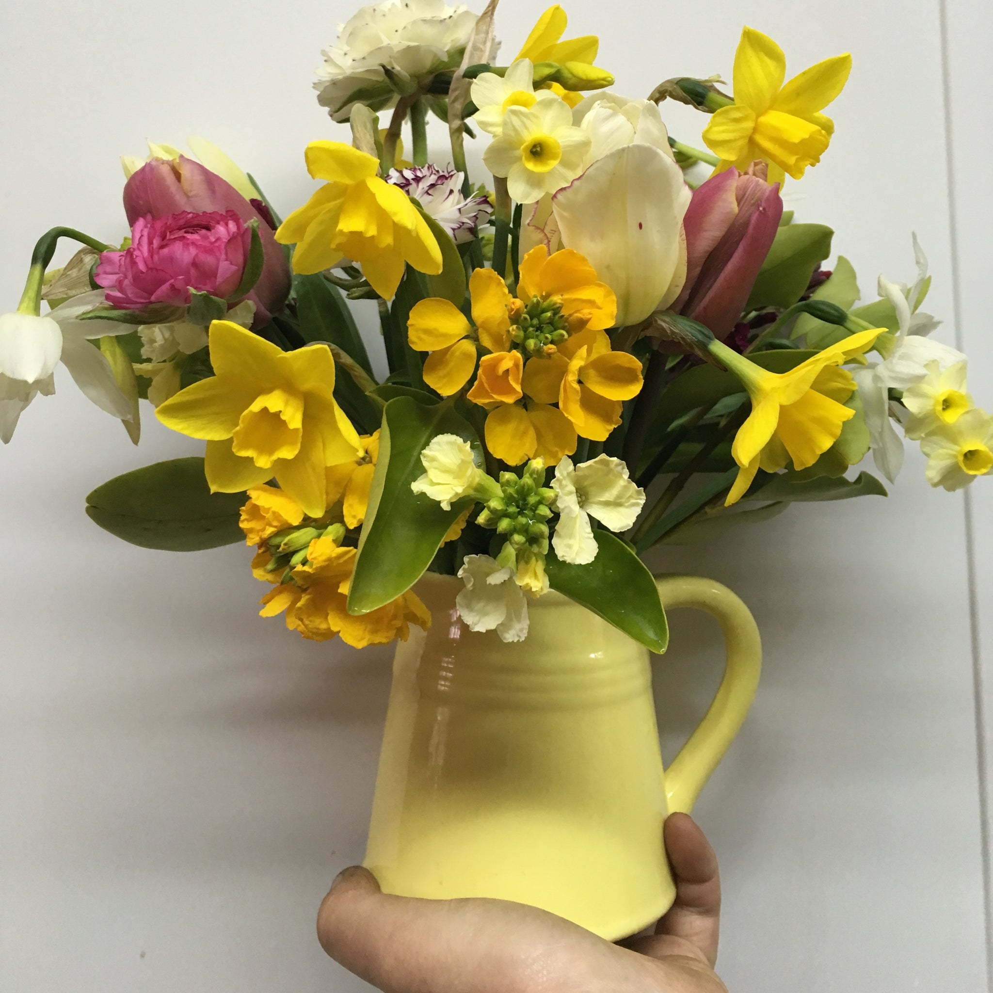 Jug -or- Bowl of Seasonal Welsh Flowers
