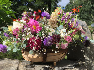 Flower Filled Wooden Trug