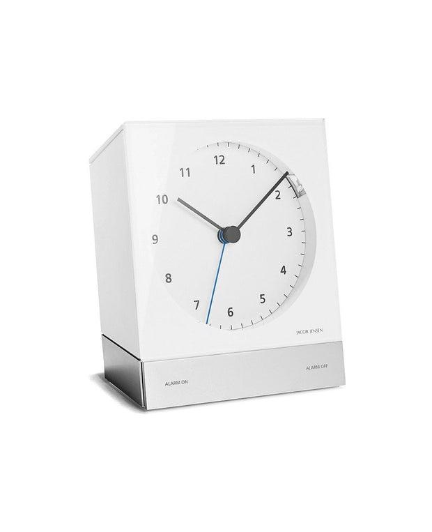Radio-Controlled Desk Alarm Clock 352, White