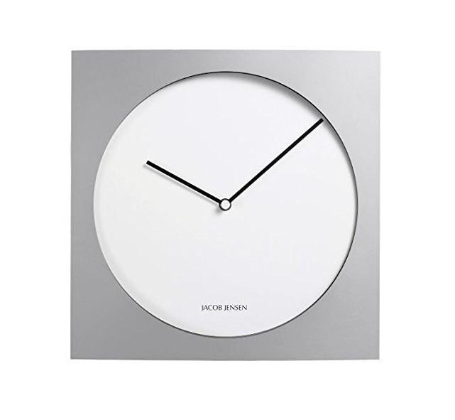 Wall Clock 319, Silver/White