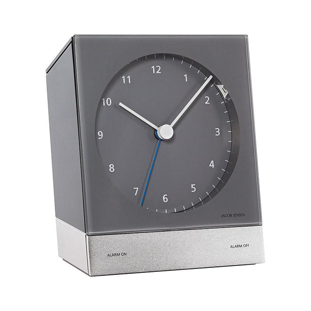 Radio-Controlled Desk Alarm Clock 350, Grey
