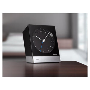 Radio-Controlled Desk Alarm Clock 351, Black