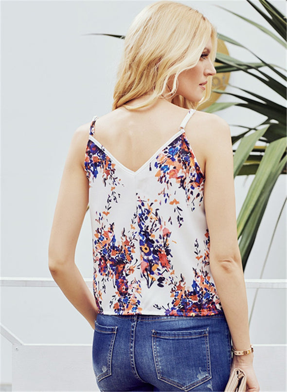 Floral Print Tank Tops