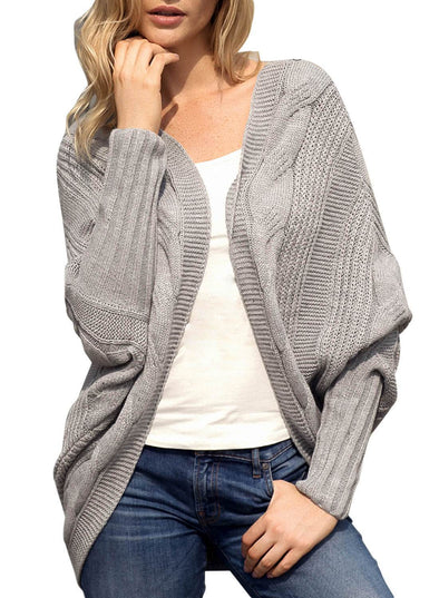Luxe Cable Knit Open Front Cardigan