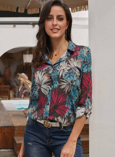 Casual Tropical Button-down Shirts