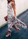 V-neck Tunic Floral Maxi Dress