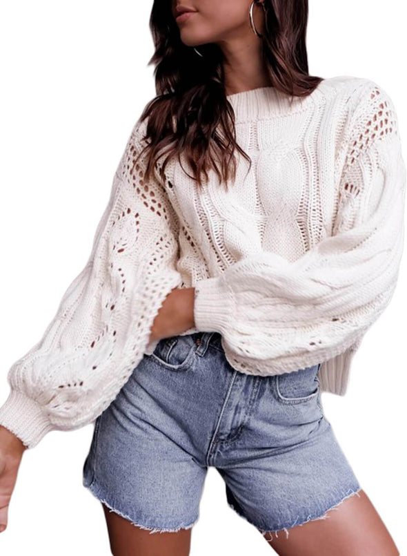 Hollow Twist Pullover Sweater