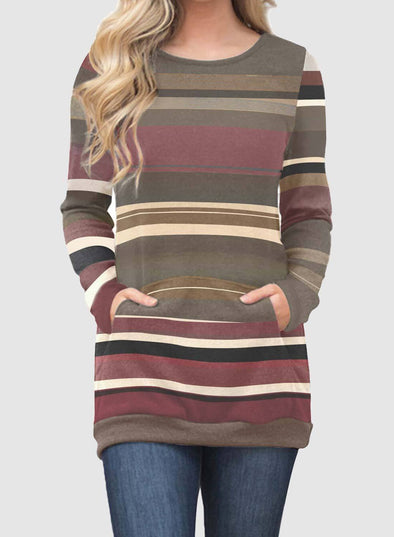 Gradation Striped Sweatshirt