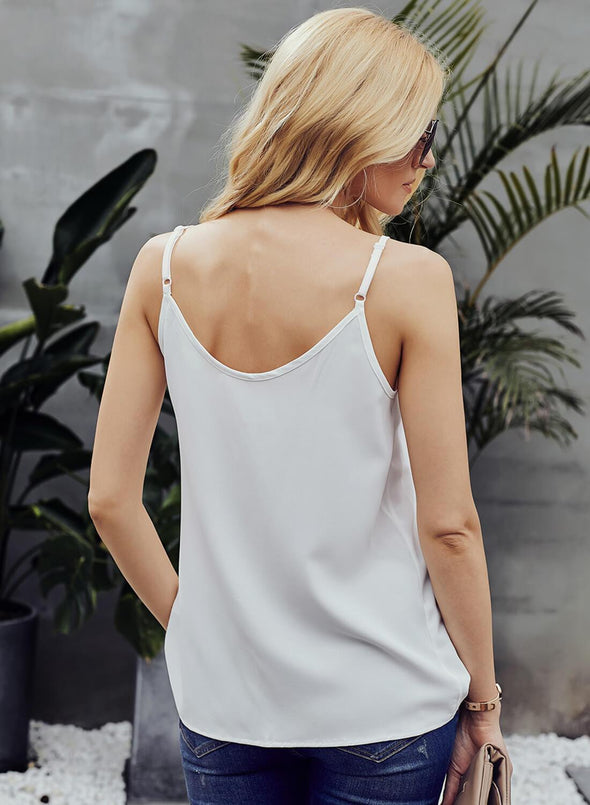 Single Breasted Loose Tank Top