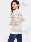 Reindeer and Snowflake Knit Christmas Sweater
