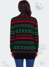 Geometric Knit Christmas Cardigan