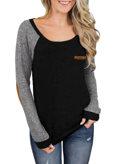 Elbow Patch Long Sleeve Top