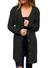 Long Sleeve Button Cardigans With Pockets