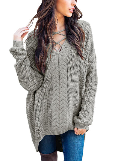 Crisscross Oversize Sweater