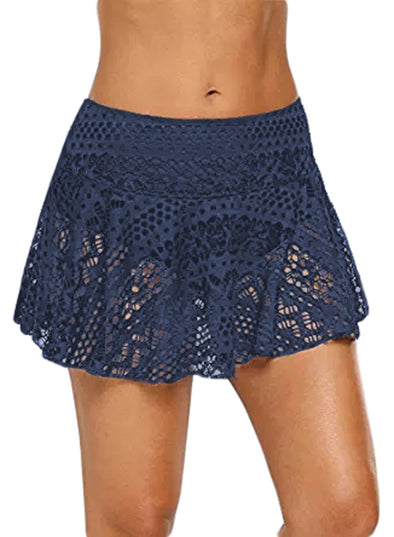 Crochet Lace Skirted Bikini Bottom