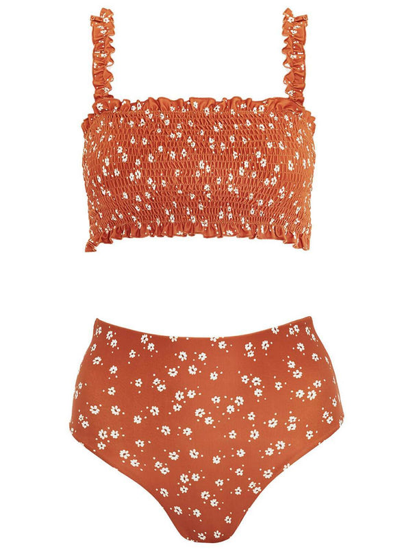 Flower Smocked Swimwear(LC411672-14-3)