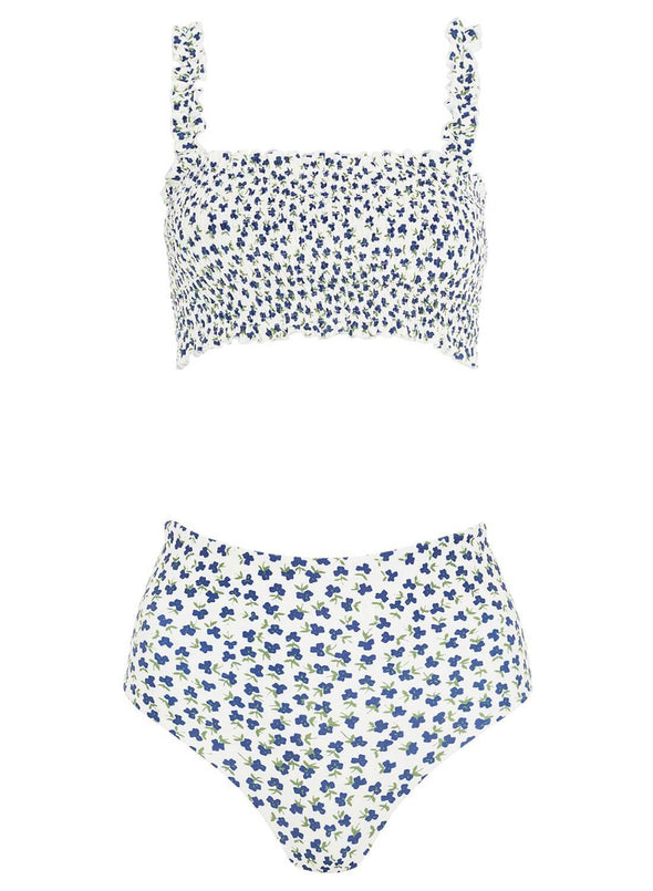 Flower Smocked Swimwear(LC411672-1-3)