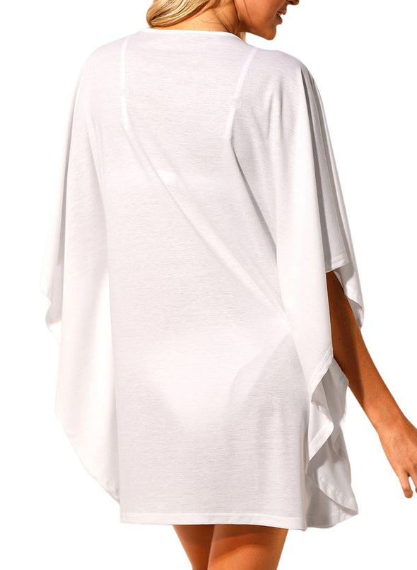 Lace up Tie Hollow-out Poncho Cover up
