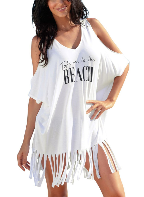 Loose Fit Take me to the BEACH Cover up