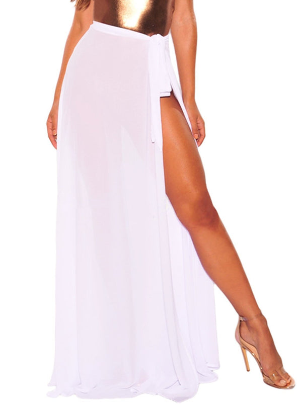 Sheer Wrap Maxi Beach Skirt