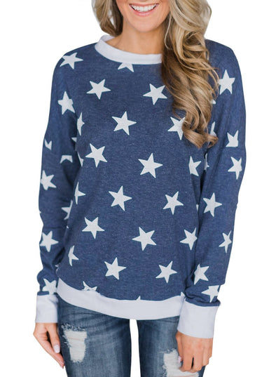 All Over Star Sweatshirt