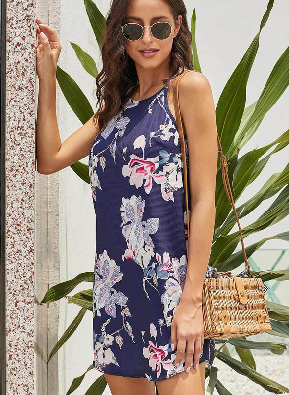 Sleeveless Summer Floral Print Dress