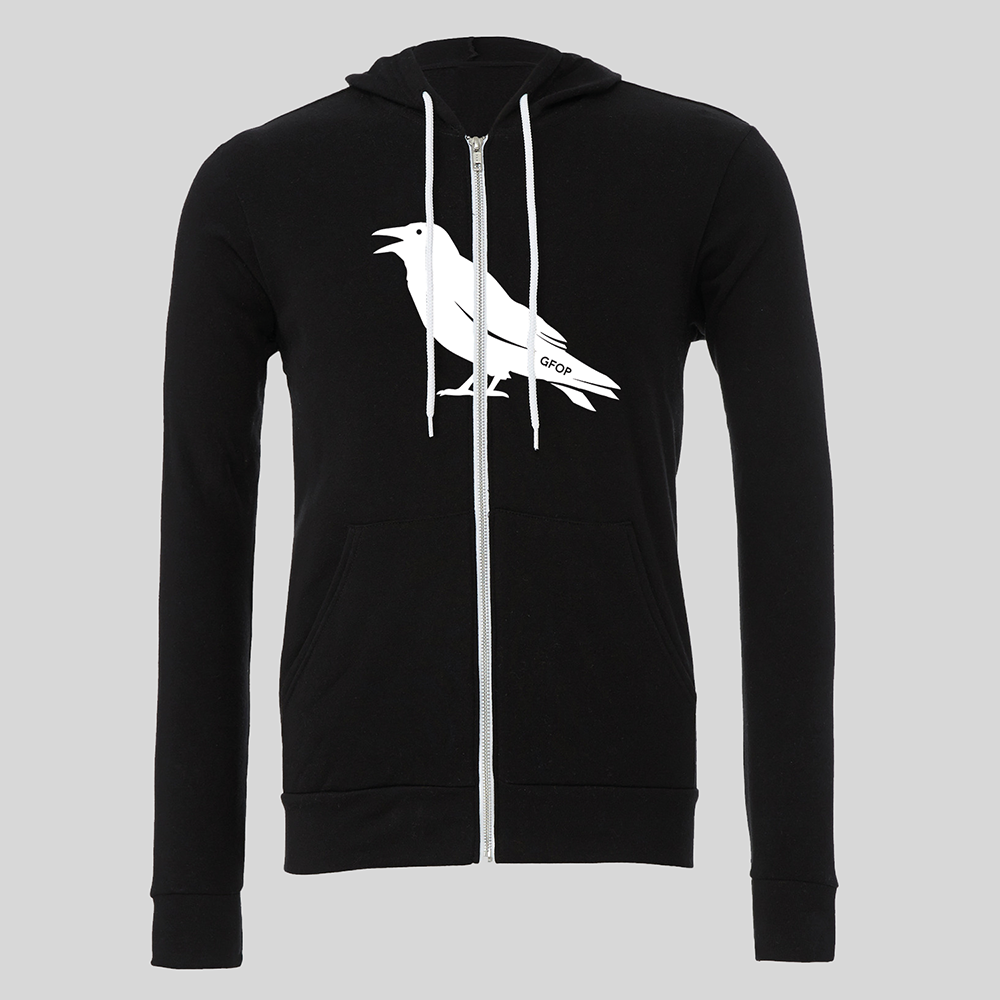 Raven GFOP Zip Up Hoodie - Black