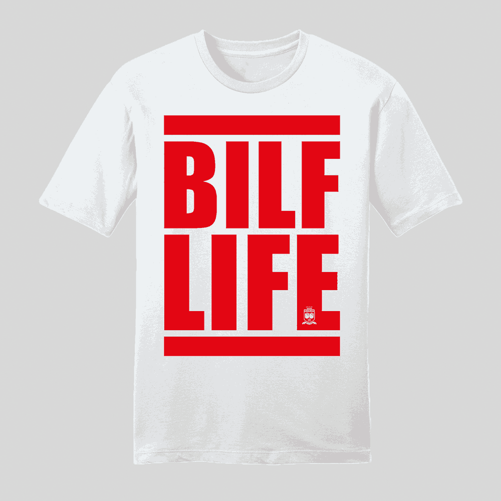 BLIF Life Red T-Shirt White