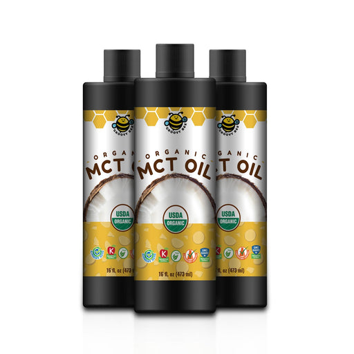 Groovy Bee® Organic MCT Oil 16 fl oz (473ml) (3-Pack)