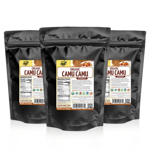 Groovy Bee® Organic Camu Camu Powder 14oz (396g) (3-Pack)