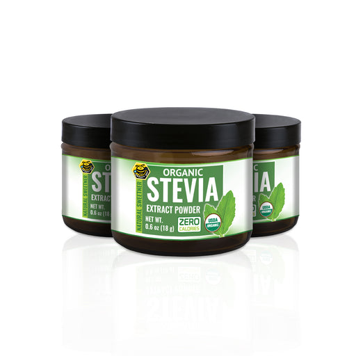 Organic Stevia Extract Powder 0.6oz (18g) (3-Pack)