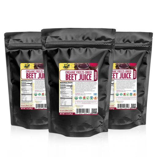 Organic Freeze-Dried Beet Juice Powder 7oz (198g) (3-Pack)