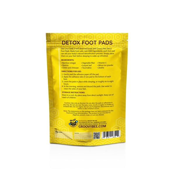 Groovy Bee® Detox Foot Pads (10 Pads/Box) (3-Pack)