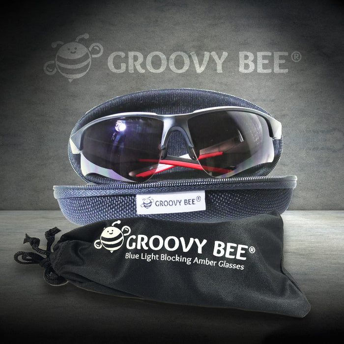 Groovy Bee® Blue Light Blocking Amber Glasses