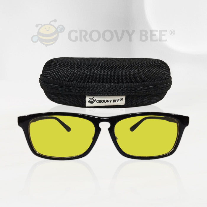 Groovy Bee® Flexible Frame Indoor Blue Light Blocking Glasses (Yellow Tint)