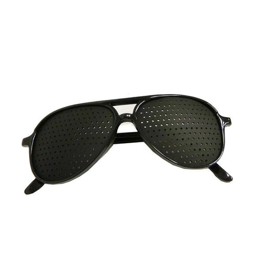 Groovy Bee Pinhole Glasses Aviator Style