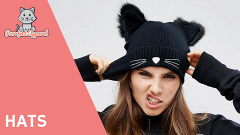 cat beanie purrfect apparel