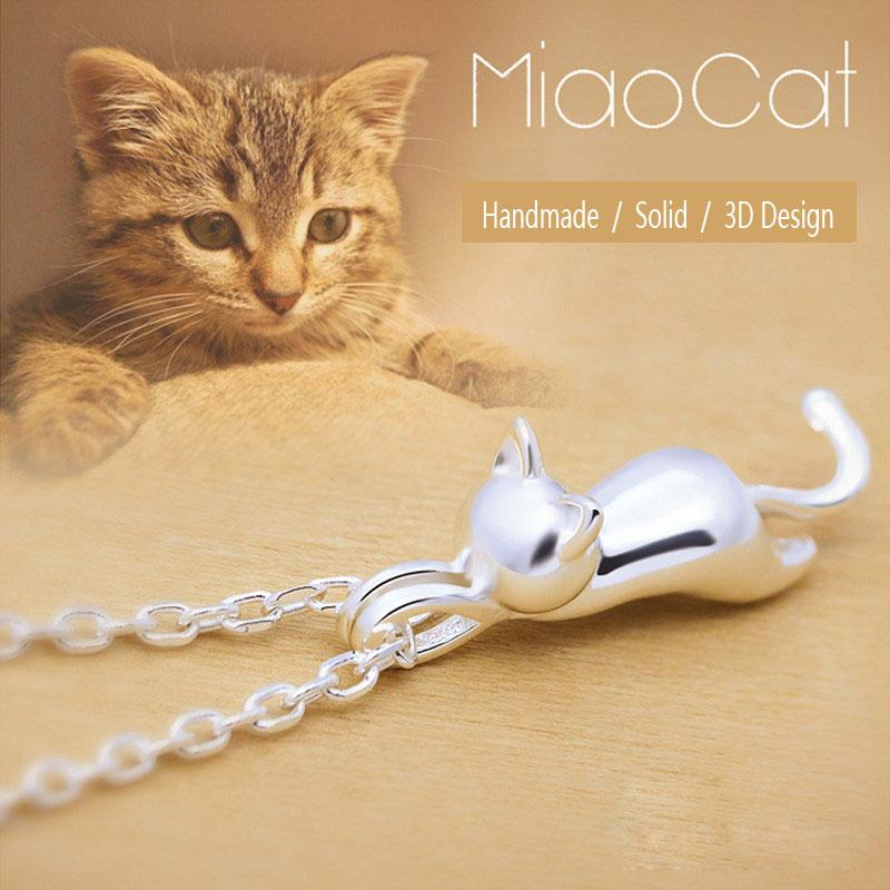 Elegant Silver Plated Cat Pendant - Purrfect Apparel