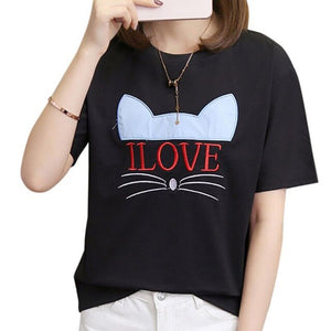 I LOVE CATS Tee - Purrfect Apparel