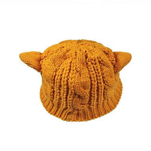 Load image into Gallery viewer, Knitted Cat Ear Beanie - Purrfect Apparel