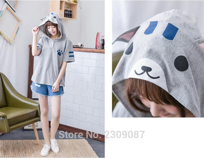 Harajuku Anime Neko Atsume Hooded top - Purrfect Apparel
