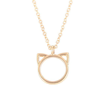 Fashion Jewelry Purrfection cat ear alloy pendant short necklace Women Gift - Purrfect Apparel