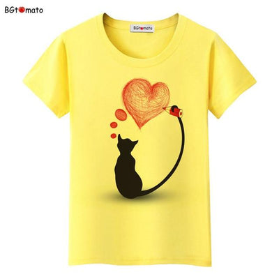 I Heart Cats T-Shirt - Purrfect Apparel